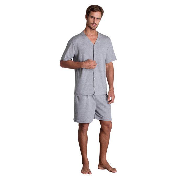 5b51b31c0d4ca4 Pijama Lupo Masculino Curto Botoes (Adulto) - Lupo